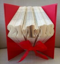 Folded book art ANY WORD with up to 9 characters PERSONALISED CUSTOM MADE GIFT