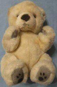 "Russ brand Yomiko plush Teddy Bear Item # 7905, 12"" tall seated, Made In Korea"