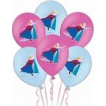 "Disney Frozen Princess Girls Birthday Party Colour Printed 11"" Latex Balloons X6"