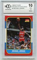 1996-97 Fleer Decade of Excellence #4 (1986) Michael Jordan Card BGS BCCG 10