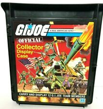 1982 Official GI Joe Carrying Case Lot for 12 figures - 1 is 100% complete & NM