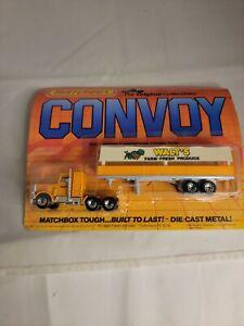 Matchbox 1983 Convoy Walt's Farm Fresh Produce on creased card