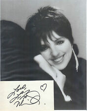 LIZA MINNELLI       signature with 8x10 photo