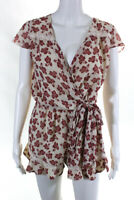 Tularosa Womens Red White Ashby Romper Size Small 10533830