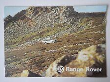 RANGE ROVER CLASSIC orig 1977 UK Mkt Sales Brochure