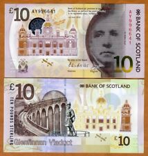 Scotland, Bank of Scotland, 10 pounds,  2017, P-New, POLYMER, UNC > Walter Scott