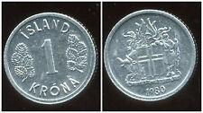 ISLANDE  1 krona  1980 ( bis )