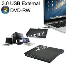 External USB 3.0 Slim DVD Drive RW CD RW Burner Copier Writer Reader Rewriter