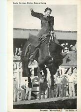 Doris Haynes Riding Brown Derby 1940's Postcard