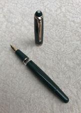 1950's Montblanc 252 Fountain Pen, Rare Green, 14k 585 Gold Nib, EF Flexible