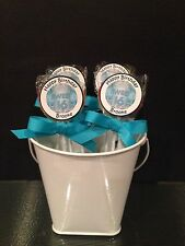 Sweet Sixteen Teal Personalized Birthday Lollipops
