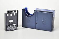 LOT: 1 Canon CB-2LS battery charger + 2 NB-1LH 3.7V Li-ion batteries