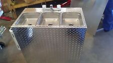 PORTABLE SELF CONTAINED 3 COMPARTMENT SINK , FOOD TRUCK / TRAILER