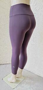 "ALO Yoga Women's High Waist Airbrush Capri Leggings 21"" Purple Size XS"