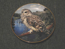 Danbury Mint - On the Lookout - Owl Plate