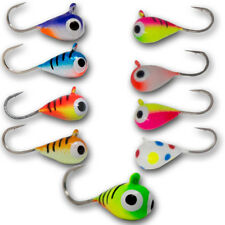 5 Pack Tungsten Uv Glow Ice Fishing Jigs Crappie Perch Bluegill Trout Panfish