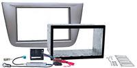 SEAT Altea Toledo Doppel ISO Radio Blende 2 DIN Einbau Rahmen Schacht Adapter