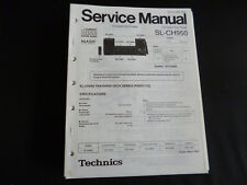 Original SERVICE MANUAL Technics sl-ch950