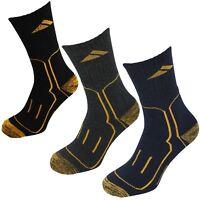 Multi 3 - 6 - 9 PACK Heavyweight Warm Thermal Reinforced Heel Toe Work Socks