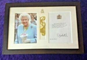 Nice framed Queen Elizabeth II 100th Birthday letter