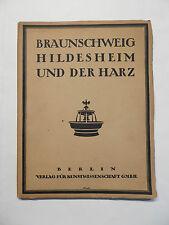 Le Dr Ernst Cohn-Wiener, Braunschweig, Hildesheim et la résine, recueil de 1928