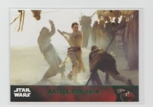 Star Wars The Force Awakens Series 1 Trading Card Green Parallel #88