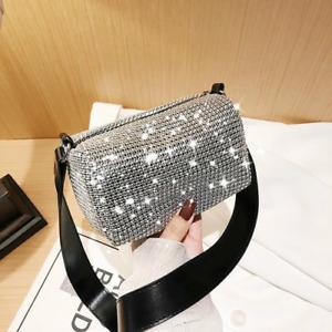 2021 Ladies Bag New Style Rhinestone Bag Leather Shoulder Bag Glitter Handbag