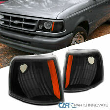For 93-97 Ford Ranger Replacement Black Corner Lamps Turning Signal Park Lights