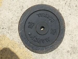 25 lbs MARCY weight plates of strong metal