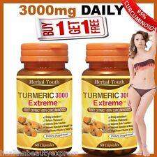 120 x TURMERIC CAPSULES 95% CURCUMIN LONGA LINN 100% PURE TUMERIC ANTIOXIDANT