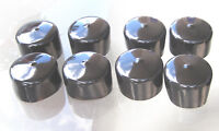 "8pk- 1 1/2"" Round Black Flexible Vinyl End Cap 1.5"" Rubber Plastic Pipe 11/2"