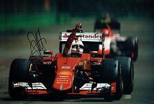 Sebastian VETTEL SIGNED FERRARI 12x8 Formula 1 Race Winner Photo AFTAL COA