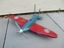 Vintage Merry Toys RAF Supermarine Spitfire Circa 1950 Pressed Steel - Very Rare