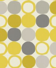 Vlies Tapete Punkte Retro gelb grau Tapete Rasch Hotspot 805116 (2,80€/1qm)