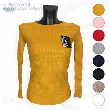 Damen Strick Pullover Pulli Sweater Cotton Kaschmir Winter Sweatshirt Top DF