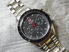 Alpha Hand Winding 30-min Chronograph Matte Black Dial Speedmaster Watch