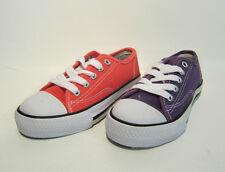 Niñas En El Clavo Cordones Zapatillas De Lona x0001 Talla 13-5