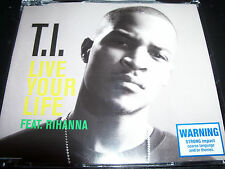 T.I Live Your Life Feat Rihanna Rare Australian 3 Track CD Single - Like New
