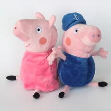 set of 2 peppa pig family grandpa and grandma Soft Plush Toy Doll 28cm