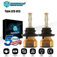 IRONWALLS H13 9008 2500W 375000LM COB LED Headlight Bulb Kit Hi/Lo Beam 6000K
