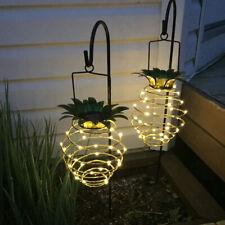 Garden Solar Hanging Lights Pineapple Bright Waterproof Lanterns Outdoor Decor