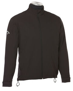 Callaway Golf Men's Size S-4XL WATER RESISTANT Full Zip Black Jacket