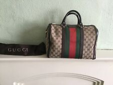 Authentic Gucci Boston Green & Red Monogram bag with dust bag