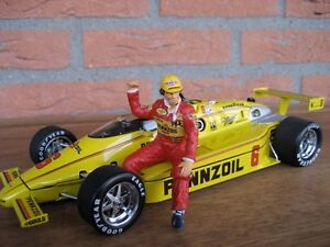 1/18 FIGURE  RICK MEARS  VROOM  PAINTED  FOR  INDY CARS   MATTEL  MINICHAMPS