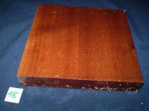Mahagoni Hartholz  Drechselholz  Edelholz  203 x 205 x 32 mm   Nr. 18