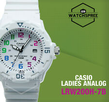 Casio Lrw200h-7b Womens White Dial Analog Quartz Watch