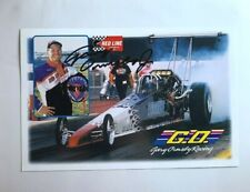 Gary Ormsby Jr Signed Autographed Redline Oil Dragster NHRA Photo Card N 590