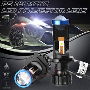 2x H4 9003 Mini Bi-LED Projector Lens LED Headlight Hi-Lo Beam 70W LHD Retrofit
