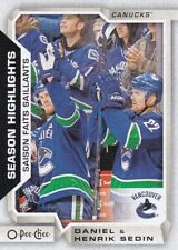 DANIEL & HENRIK SEDIN 2018-19 18-19 OPC O-PEE-CHEE SEASON HIGHLIGHTS SP #557