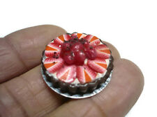 Strawberry Chocolate Pie On Tin Pans Dollhouse Miniatures Food Bakery